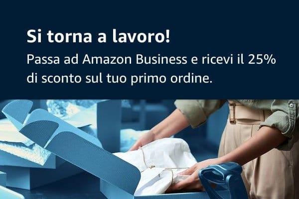 Amazon business sconto 25% BTW21