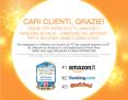 Amazon è il migliore ecommerce d'Italia e ci ringrazia con 10 Euro di sconto