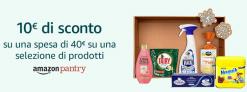 Nuova Promo Amazon Pantry per il Black Friday: 10€ di sconto su una spesa di 40€