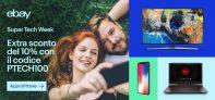 Super Weekend di eBay – Sconto del 10% su Elettronica e informatica con il codice PTECH100