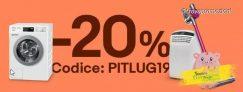 Imperdibile coupon Ebay PITLUG19 per risparmiare fino a 100 Euro su condizionatori ed elettrodomestici!