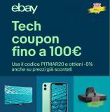 Super coupon tecnologico eBay: 5% di sconto con il codice PITMAR20